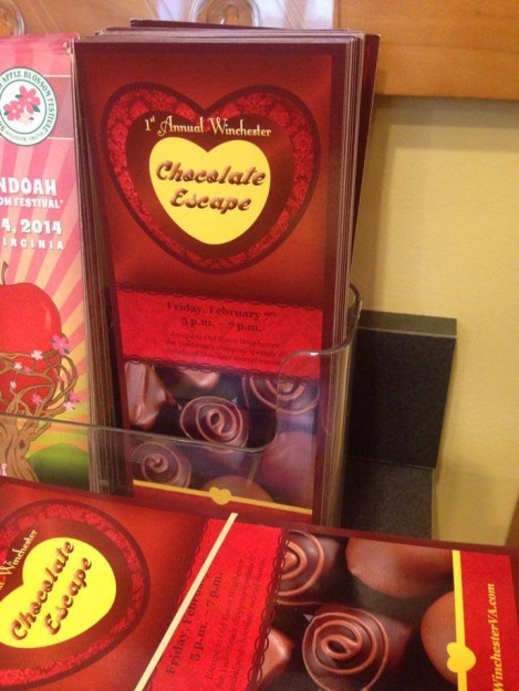 The second project included designing a logo for a Valentine's Day event: Winchester Chocolate Escape. I developed the event name and logo. I designed print and digital promotional collateral: rack cards, flyers, TV slide ads, etc.