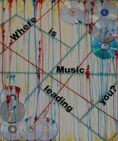 "The first piece, ""Where is Music Leading You?"", is overlaying a subway map. The map represents the performing artist's career path. Why are they creating music and what do they hope to accomplish?"