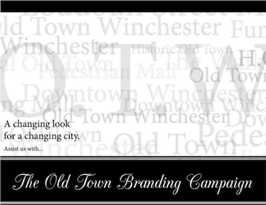 My first project was to develop an email advertisement to promote the Old Town Winchester Branding Campaign. This design was used to generate interest in attending a rebranding meeting for the historical district of Winchester. Old Town Winchester has many names: The Walking Mall, Loudoun Street Mall, Historical Downtown, Loudoun Mall, etc. My supervisor, Mrs. Jennifer Bell, wanted to showcase these names and highlight the new name that they hoped would become the prominent one: Old Town Winchester. Mrs. Bell wanted a design that was simple and classic. I chose to do a black and white design (gray scale variations). In terms of typography, I paired Minion Pro (serif font) and CAC Champagne (script font). I incorporated all the different names in a faded background and kept the O.T.W. more opaque.