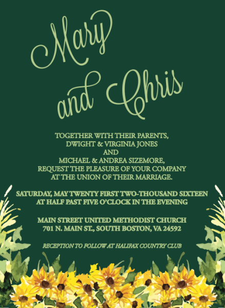 Mary & Chris Wedding Invitation
